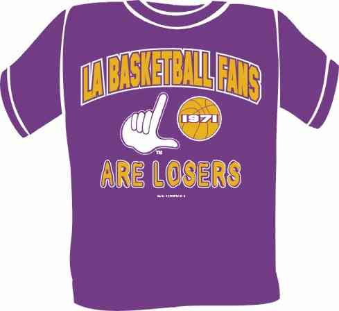 Sample Team Loser Tee LA Basketball